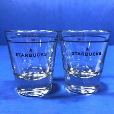 Starbucks Coffee One Ounce Espresso Cup Shot Glass Lot Of Two