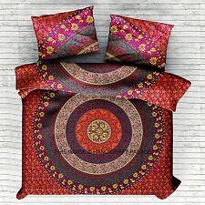 Indian Mandala Queen-Size-Bettbezug Doona Decke Bohemian Hippie Wurf Gesetzt