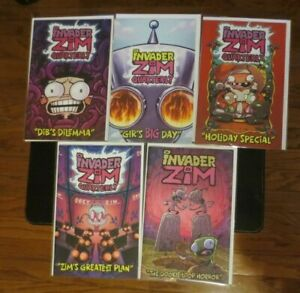 Invader Zim Quarterly plus Dookie Loop Horror 5 issue comic book set Cover A