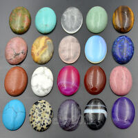 22x30mm CAB Natural Gemstone Oval Cabochon Flat Back Beads For Jewelry Design