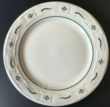 """Longaberger Woven Traditions Heritage Green 10"""" Dinner Plate Vitrified China"""