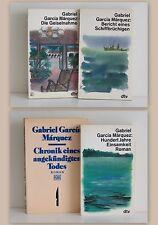 Konvolut 4 Bände Gabriel Garcia Marquez Romane Weltliteratur Belletrsitik Dtv xz