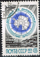 Russia Soviet Antarctic Stations Map stamp 1971