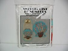 Plastic Canvas Seashell Door Knob and Switch Plate Covers 1988 NEW Never Opened