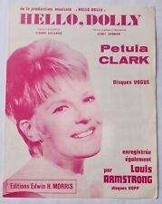 Partition Hello, Dolly Petula Clark  Amstrong Delanoé Herman Editions E.H.Morris