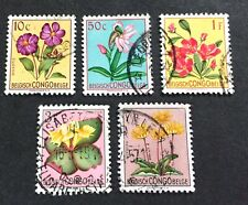 Belgish Congo Belge 1952/53 flowers - 5 used stamps