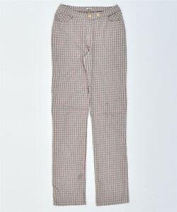 ONYX Mens Slim Fit Trousers XS W24 L30 Multicoloured Check Cotton Vintage MO15