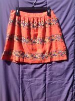 Women's Tommy Hilfiger Peach Printed Skirt Size 10