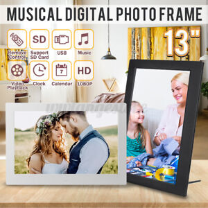 "AU 13"" HD 1080P LED Digital Photo Picture Frame MP4 Player Video Clock  ぅ"