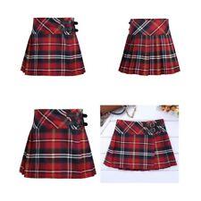 Girls Kids Children School Uniform Pleated Side Button Kilt Skirt 9-16 Years