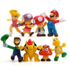 8Pcs 3~5cm Super Mario Bros Figure Toy Doll PVC Figure For Kid's Xmas Gift