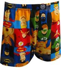 NEW DC COMICS HEROES SUPERMAN BATMAN FLASH BOXER SHORTS UNDERWEAR Men M 32-34
