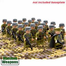 21 un. Segunda Guerra Mundial Soldados Ejército Militar nos Francia Gran Bretaña + Arma Para Minifiguras Lego