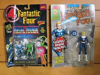 Vintage Toy Biz Marvel Fantastic Four Mr. Fantastic Invisible Woman Die Cast NEW
