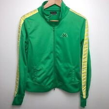 Kappa Jacket Youth L Green Yellow Full Zip Vtg 90s