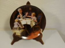 Norman Rockwell Plate The Gourmet 1985 Edwin M. Knowles Bradford Exchange