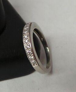 Beautiful Platinum Diamond Wedding Band Ring Sz 6 5.3 Grams