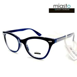 "(3 PAIRS/3 COLORS) MIASTO ""SKEETER"" CLASSIC CAT EYE READERS READING GLASSES+2.25"