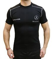 Меrсеdеs АМG Веnz T-shirt EMBROIDERED Polo LOGO Fan Men's Black Cotton Auto Car