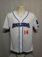 Boulders 14 Baseball Adult Small White Jersey