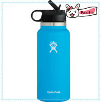 Hydro Flask Wide Mouth 2.0 Water Bottle, Straw Lid , 32oz-Pacific