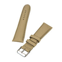 Brentwood Watch Strap 24 mm Wide Beige Genuine Calf Leather BBW-24-24XL20-31