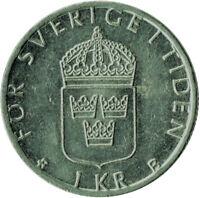 COIN / SWEDEN / 1 KRONA 2000  #WT296