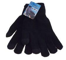 1 paire de gant homme tactile- taille unique - uni noir