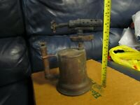 Vintage Antique Turner Brass Soder Torch Gas Blow Torch (8)