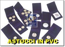 ASTUCCI IN PVC IMBOTTITO x MONETE - tipo moneta certificata diam. 47x47  mm. BLU