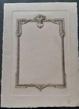 Gravure avant la lettre+Hector Maquet+Epreuve+Papier Impératrice+Maquet