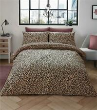 Leopard print duvet sets quilt cover bed set natural tan animal print bedding