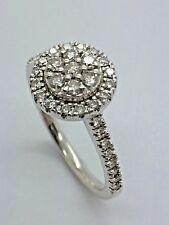 9ct White Gold Halo Diamond Engagement - 0.50ct