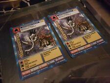 2 x DIGIMON Trading card - Mammothmon - 1st edition