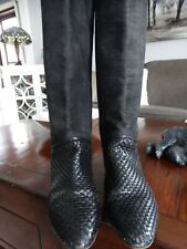VIA SPIGA Woven leather & Thick Suede boots Made in Italy 8