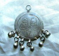 Antique Silver ethnic tribal bedouin gypsy Islamic Egyptian Zar Headdress - زار