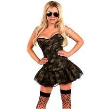 Mujeres Vestido Corsé Adulto Halloween Disfraces Ejército Militar Uniforme Elaborado Vestido 6X