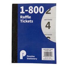 Rifa, TOMBOLA, sorteo, guardarropas billete Libro-De 1 a 800, tamaño 147 X 110 mm