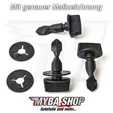 2x Mounting Clip Screw Bolt + Washer for Audi VW 6q0807643 6n0129355