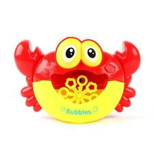 1P Automatic Bubble Maker Machine Electric Big Crab Frog Blower Music Bath Light
