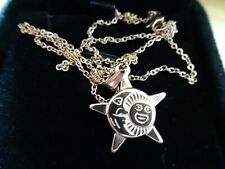 CLEARANCE - ITALIAN 18ct GOLD & SILVER SUN AND MOON Pendant & Box