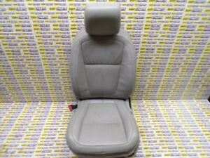 JAGUAR XF PASSENGER SIDE FRONT GREY LEATHER SEAT