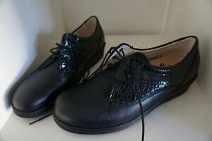FINN COMFORT Ancona Damen Schuhe Schnürschuhe Gr.6,5 / 40 Lack Leder marine NEU