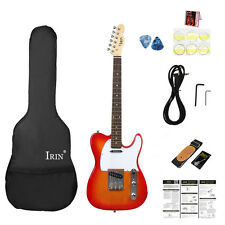 New IRIN Basswood Sunset Electric Guitar w/ Bag Strap Strings Picks &Accessories