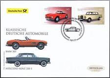 BRD 2015: BMW 507 und Mercedes Benz 220 S! Post-FDC der Nr. 3143 + 3144! 1801