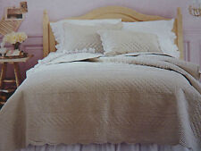 2 pc Simply Shabby Chic Twin Taupe Coverlet & Sham Set NIP
