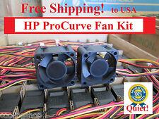 2x Quiet Replacement fans for HP ProCurve 2626 2650 2724 Ethernet Switch
