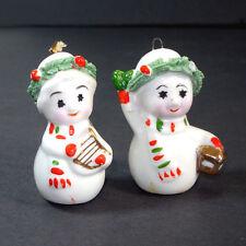 Napco Mini Bone China Starry Eye Christmas Snowman Ornaments