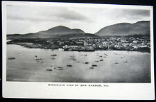 BAR HARBOR Maine ~ 1900's  BIRD'S EYE VIEW ~ Lots of Fishing Boats in Harbor