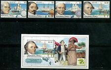 TONGA 1999 EARLY EXPLORERS AND SHIPS MINT SET AND SHEET - $15.20 VALUE!